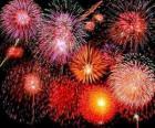 Fuochi d'artificio per la celebrazione del Capodanno
