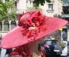 Pamela rosso, sono molto tesa larga cappelli usati dalle donne