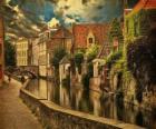 Centro storico di Bruges, in Belgio