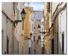 Village Street in Minorca, Spagna