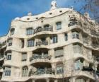 Opere di Antoni Gaudí. La Pedrera o Casa Milà da Gaudi, Barcellona, Spagna.