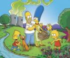 La famiglia Simpson in una giornata di pic-nic