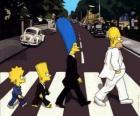 La famiglia Simpson in tutta la strada molto elegante
