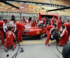 Ferrari pit stop pratica, Shanghai 2010