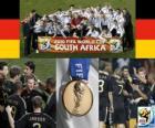 Germania, classificato 3 ° nel campionato mondiale di calcio 2010 in Sudafrica
