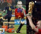 Andres Iniesta, miglior giocatore della finale dei mondiali di calcio 2010 in Sudafrica