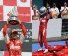 Fernando Alonso festeggia la sua vittoria ad Hockenheim, Gran Premio di Germania (2010)