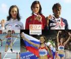 Natalia Antiuj campione 400m ostacoli, Vania Stambolova e Perri Shakes-Drayton (2 ° e 3 °) di atletica leggera Campionati europei di Barcellona 2010