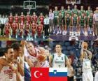 Turchia - Slovenia, quarto a fine 2010 del Campionato mondiale di pallacanestro maschile in Turchia