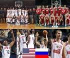 Stati Uniti - Russia, quarto a fine 2010 del Campionato mondiale di pallacanestro maschile in Turchia