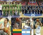 Lituania - Argentina, quarto a fine 2010 del Campionato mondiale di pallacanestro maschile in Turchia