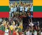 Lituania, 3 ° classificato Campionato del Mondo di pallacanestro maschile 2010 in Turchia