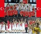 Turchia 2 ° posto Campionato mondiale di pallacanestro maschile 2010 in Turchia