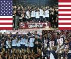 Gli Stati Uniti Campioni del Mondo di pallacanestro maschile 2010, la Turchia