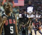 Kevin Durant la maggior parte Valuable Player premio al Campionato mondiale di pallacanestro maschile 2010
