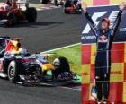 Sebastian Vettel festeggia la sua vittoria nel Gran Premio del Giappone (2010)