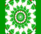 Mandala di Natale con decorazioni