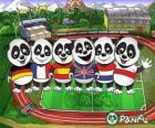 Diversi Panfu T-shirt panda di alcune squadre nazionali