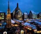 Christkindl Mercato, Norimberga, in Baviera, Alemanya