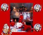 Babbo Natale nella lettura delle lettere da parte dei bambini ha ricevuto per Natale