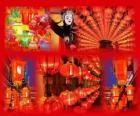 Il Festival delle Lanterne è la fine dei cinesi celebrazioni per il Capodanno. Bella lanterne cinese di carta