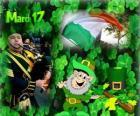 17 marzo. Giorno di San Patrizio è la celebrazione della cultura irlandese. Trifoglie usato come un simbolo d'Irlanda