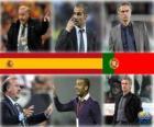 Candidati per il Coach Coppa del Mondo di Calcio degli Uomini dell'Anno 2010 (Vicente del Bosque, Pep Guardiola, José Mourinho)