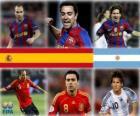 Nominato per il Ballon d'Or FIFA 2010 (Andrés Iniesta, Xavi Hernández, Lionel Messi)