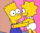 Bart prendersi cura di sua sorella Maggie
