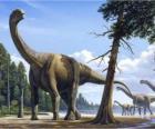 Camarasaurus nel paesaggio