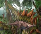 Dacentrurus, misura circa 10 metri di lunghezza e quasi 3,5 di altezza.