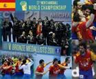 Spagna, medaglia di bronzo ai Mondiali 2011 di pallamano