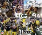 Green Bay Packers hanno festeggiato la vittoria nel Super Bowl 2011