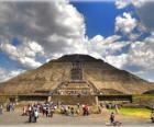 Piramide del Sole, il più grande edificio della città archeologica di Teotihuacan, in Messico