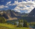Bella montagna paesaggio