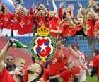 Wisla Cracovia, campione del campionato di calcio polacco 2010-2011 Ekstraklasa