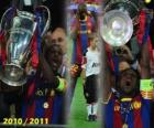 Éric Abidal raccolta come capitano Cup, Champions League 2010-2011