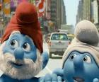 Grande Puffo e Tontolone, le strade di Manhattan. - I Puffi, film -