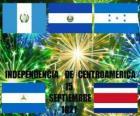 Indipendenza del Centro America, 15 settembre 1821. Commemorazione di indipendenza dalla Spagna, nei paesi moderni del Guatemala, Honduras, El Salvador, Nicaragua e Costa Rica