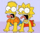 Bart e Lisa urlare