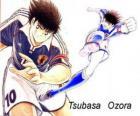 Tsubasa Ozora è Captain Tsubasa, il capitano della squadra di calcio giapponese