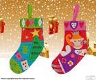 Due belle stivali di Natale decorate