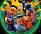 Diversi caratteri di Sesame Street