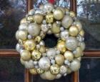 Corona di Natale, fatto con le palle