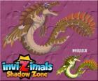 Mosasaur. Invizimals Le creature ombra. Autentico mostro dil mare con le pinne potenti e forti mascelle
