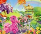 My Little Pony circondato da fiori
