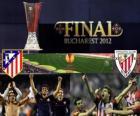Atletico Madrid vs Athletic Bilbao. Finale Europa League 2011-2012 nello stadio nazionale a Bucarest, Romania