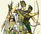 Soldato egiziano con un arco