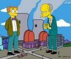 Charles Montgomery Burns e Waylon Smithers, proprietario dell'impianto nucleare di Springfield e il suo assistente