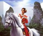 Principessa a cavallo bellissimo